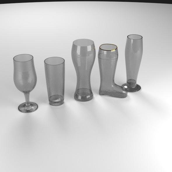 5 Beer Glass Set - 3DOcean Item for Sale
