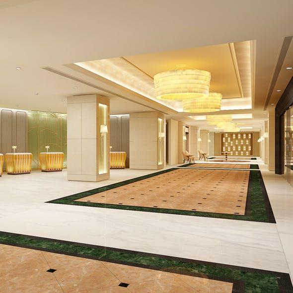 Realistic Reception Interior 3D - 3DOcean Item for Sale