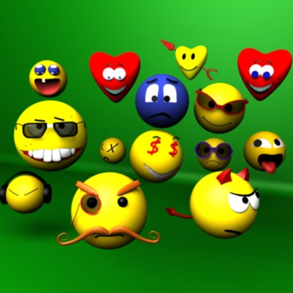 3D Smiley Faces