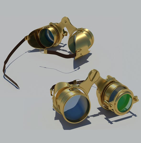 Steampunk Goggles - 3DOcean Item for Sale