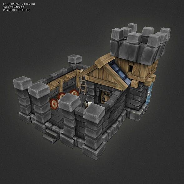 Low Poly RTS Human Barracks