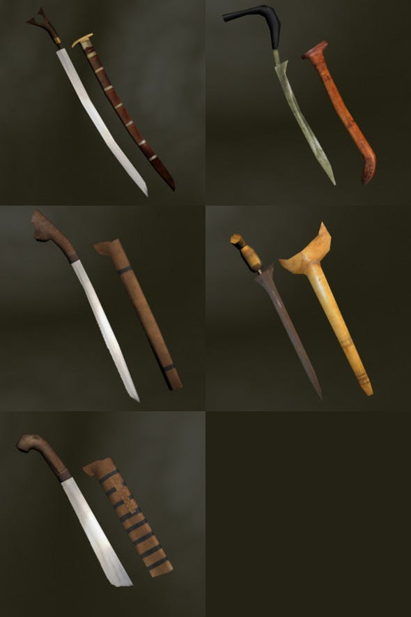 Asian Bladed Weapons Pack - 3DOcean Item for Sale