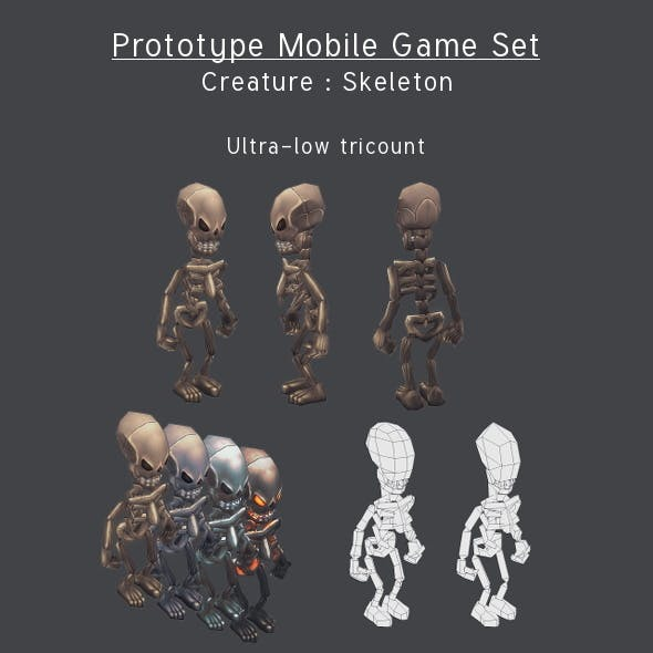 Prototype Mobile Game Set - Creature : Skeleton