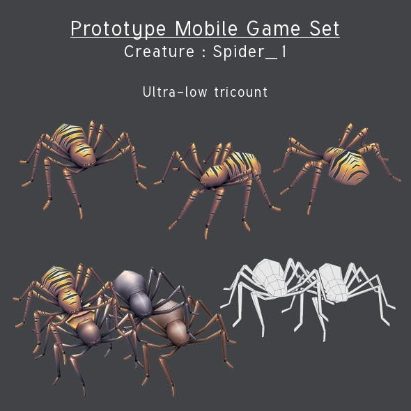 Prototype Mobile Game Set - Creature : Spider_1