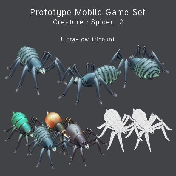 Prototype Mobile Game Set - Creature : Spider_2