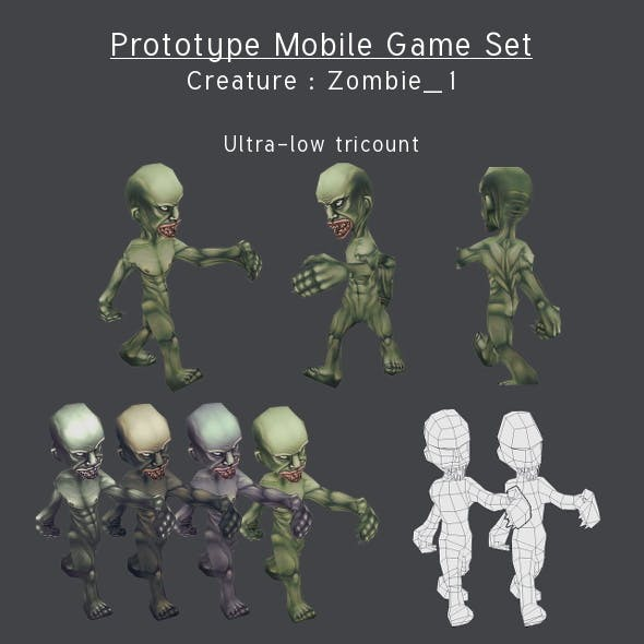 Prototype Mobile Game Set - Creature : Zombie_1