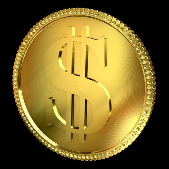 Golden Coin - 3DOcean Item for Sale