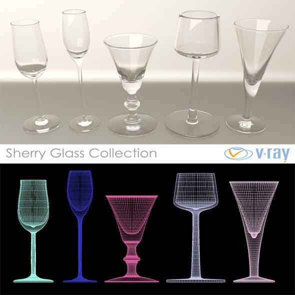 Sherry Glasses Collection - 3DOcean Item for Sale