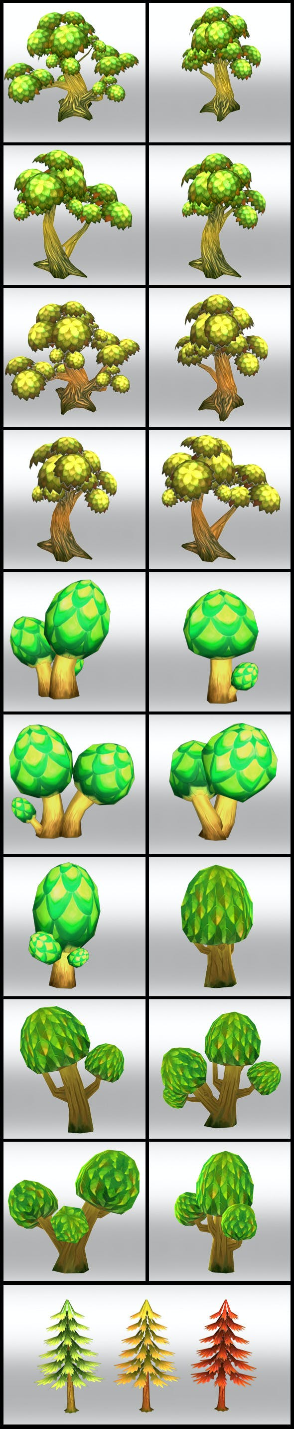 Lowpoly Fantasy Trees pack - 3DOcean Item for Sale