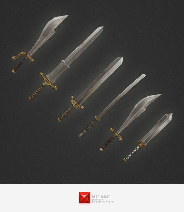 Low Poly Weapon Set 03 - 3DOcean Item for Sale