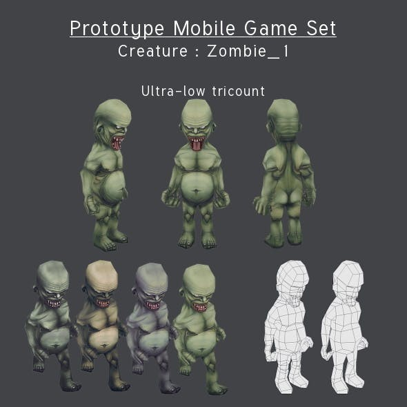 Prototype Mobile Game Set - Creature : Zombie_2