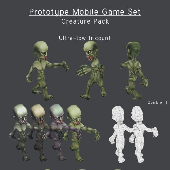 Prototype Mobile Game Set - Creature Pack