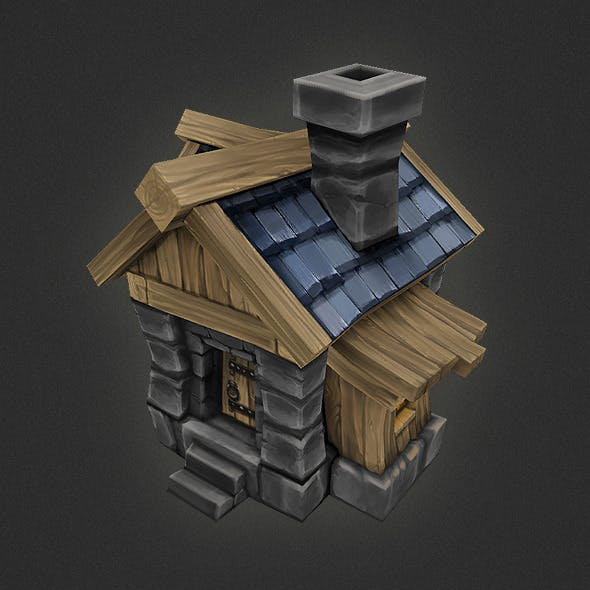 Low Poly RTS Human House