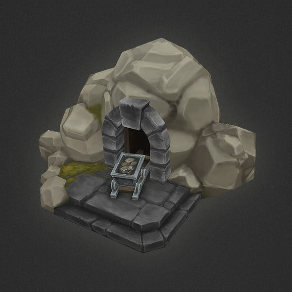 Low Poly RTS Human Mine