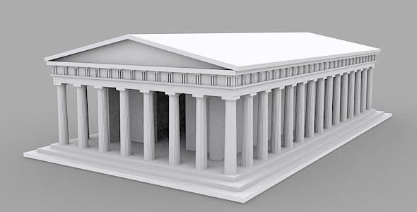 Ancient Greek Temple - 3DOcean Item for Sale