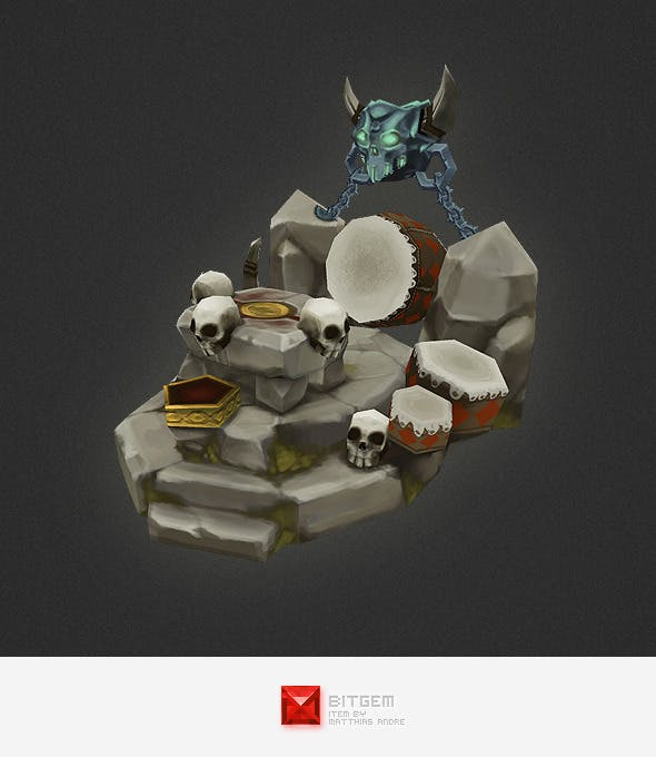 Low Poly RTS Orc Altar - 3DOcean Item for Sale