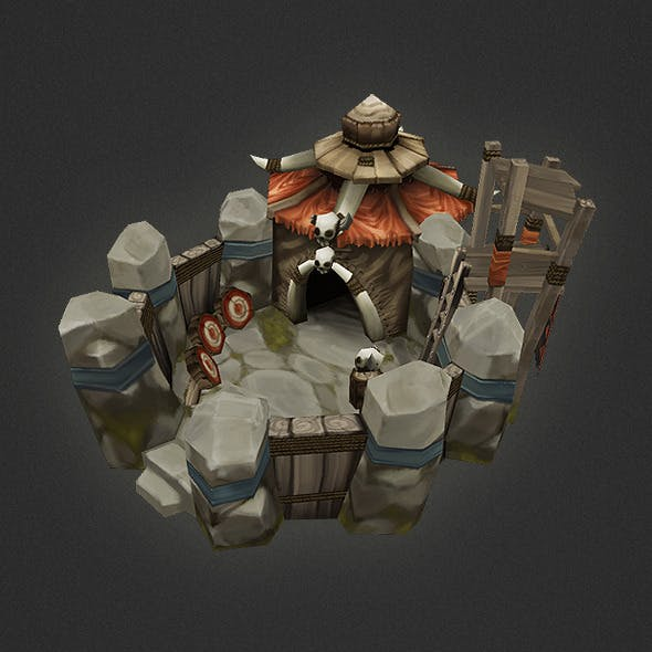 Low Poly RTS Orc Barracks