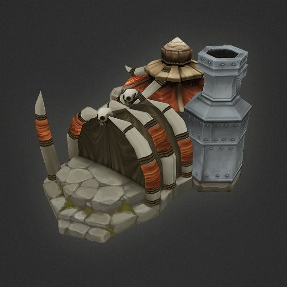 Low Poly RTS Orc Factory