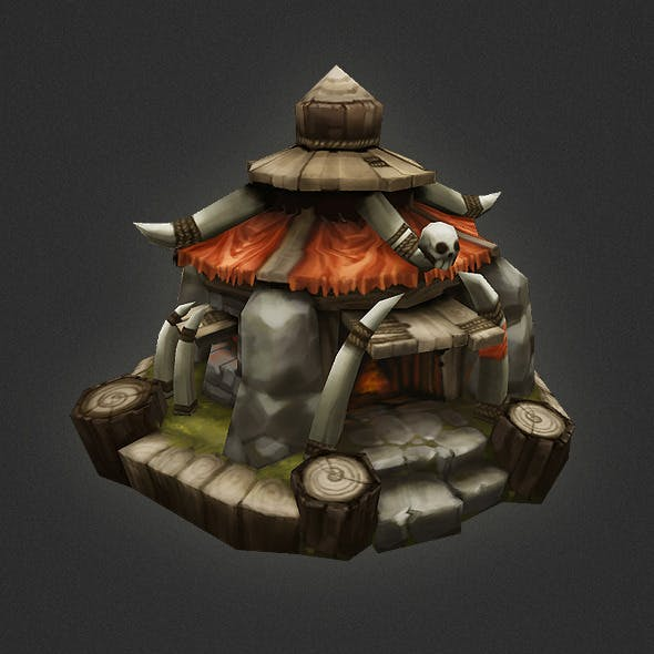 Low Poly RTS Orc Hut