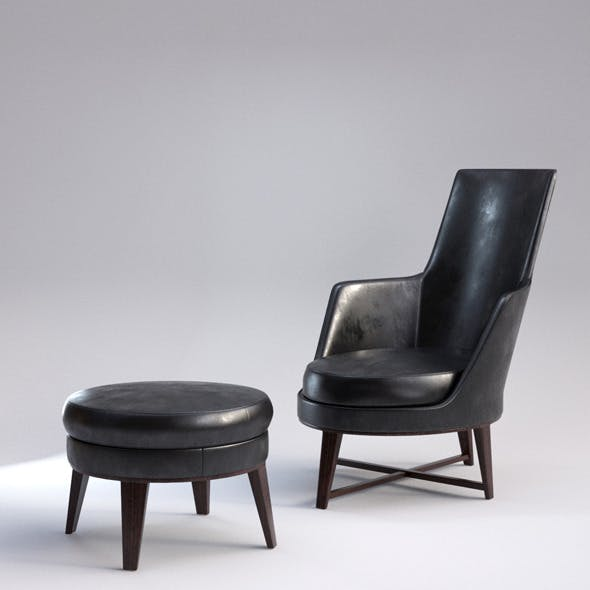 Guscio Armchair with Realistic Material