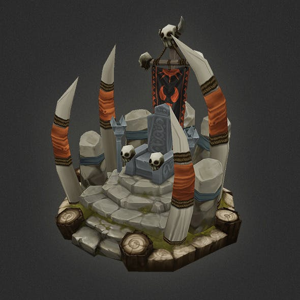 Low Poly RTS Orc Throne