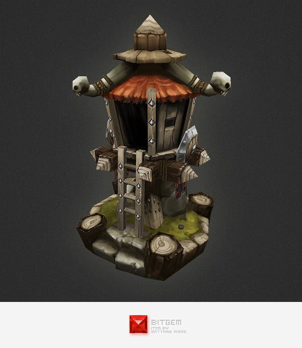 Low Poly RTS Orc Tower - 3DOcean Item for Sale