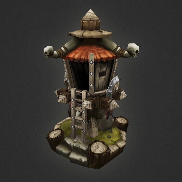 Low Poly RTS Orc Tower