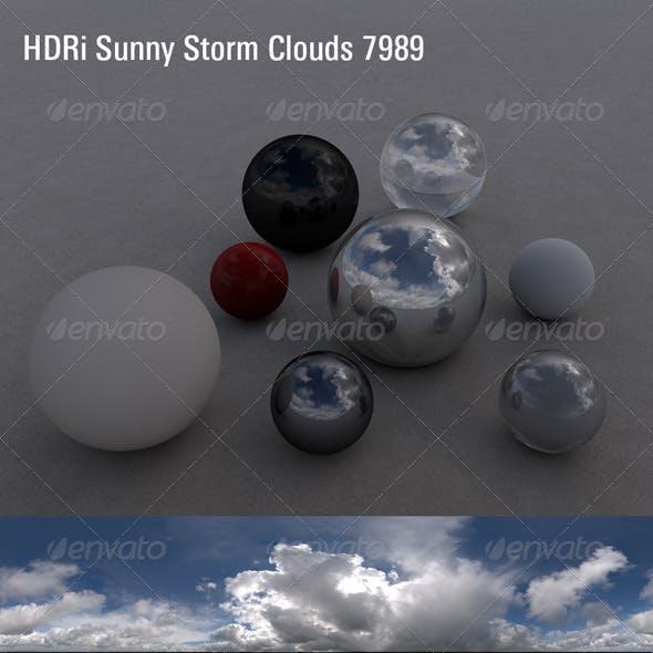 HDRi Sky Sunny Storm Clouds 7989