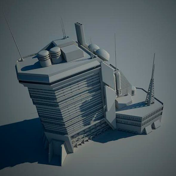 Sci Fi Building 15 - 3DOcean Item for Sale