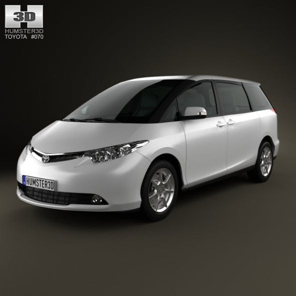Toyota Previa 2012 - 3DOcean Item for Sale