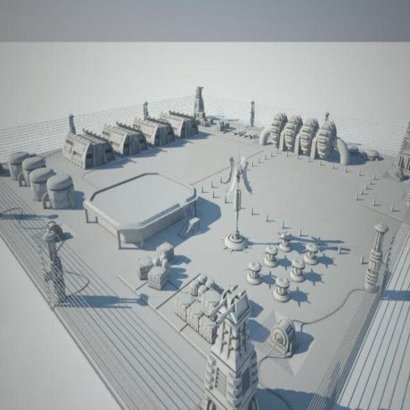 Scifi military base - 3DOcean Item for Sale