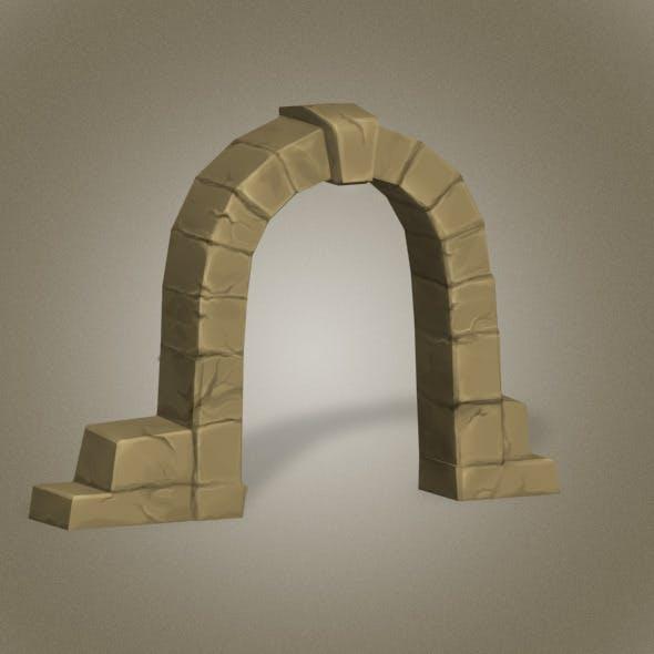 Door Stone Low Poly
