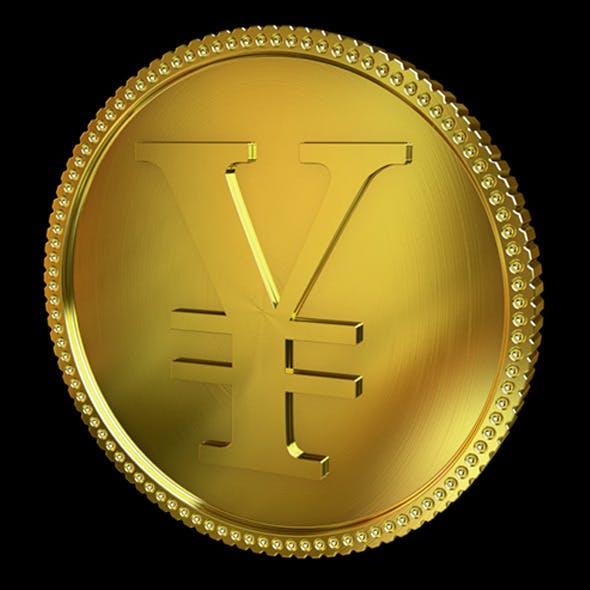 Yen Golden Coin - 3DOcean Item for Sale