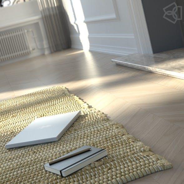 Carpet, Rug 3D model + Studio Scene