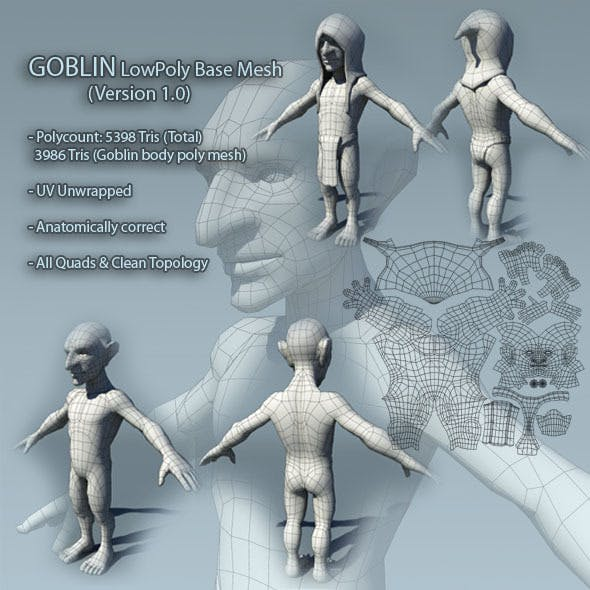 Goblin Low Poly Base Mesh Ver1.0