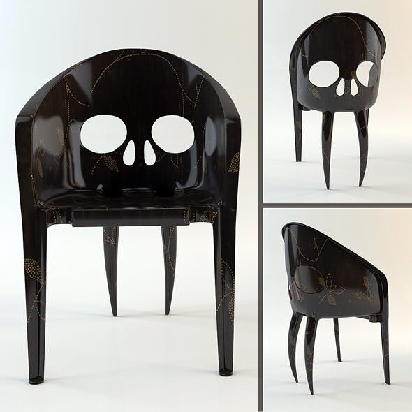 """Chair """"The Skull with Fangs"""" (hi-poly model) - 3DOcean Item for Sale"""