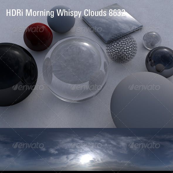 HDRi Morning Whispy Clouds 8632
