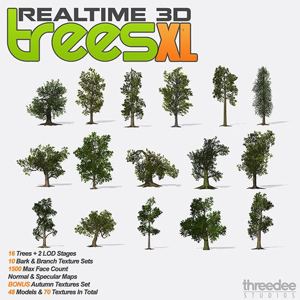 Realtime 3D Trees - XL Pack
