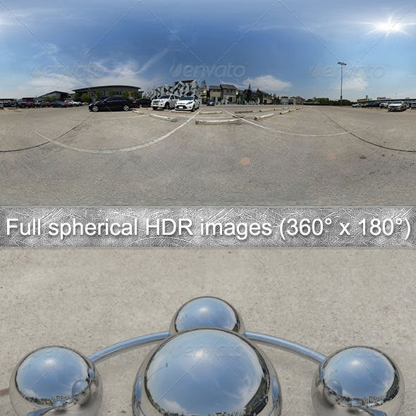 Parking Full spherical HDR images (360° x 180°)