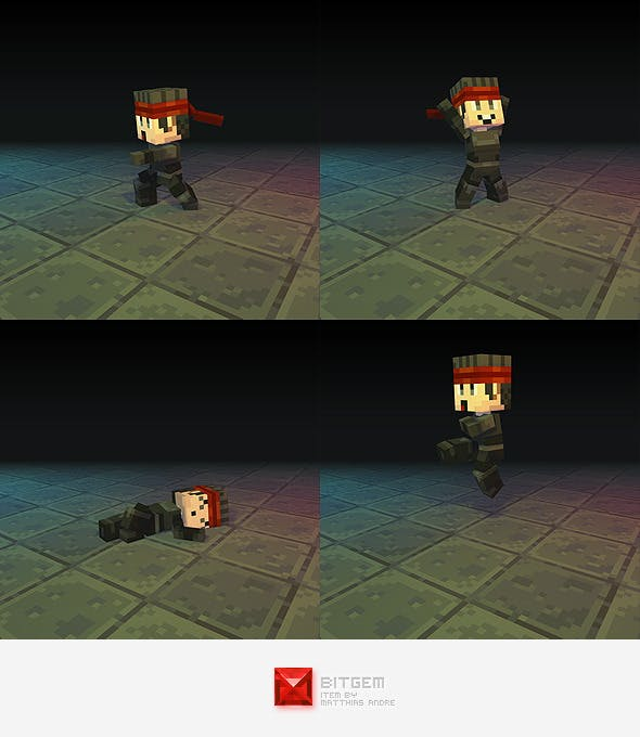 Low Poly 3D Pixel Man - 3DOcean Item for Sale