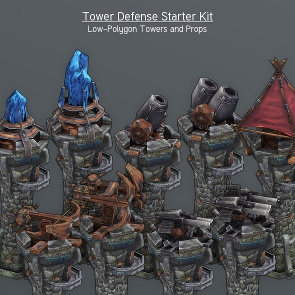 LowPoly Tower Defense Starter Kit