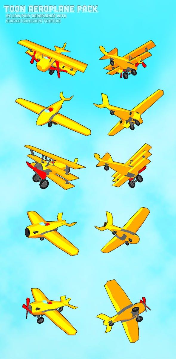 Toon Aeroplane Pack - 3DOcean Item for Sale