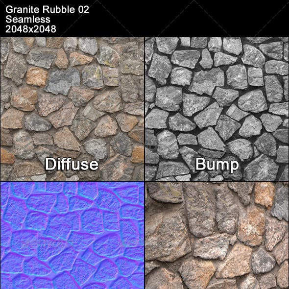Granite Rubble Texture Tileable 02