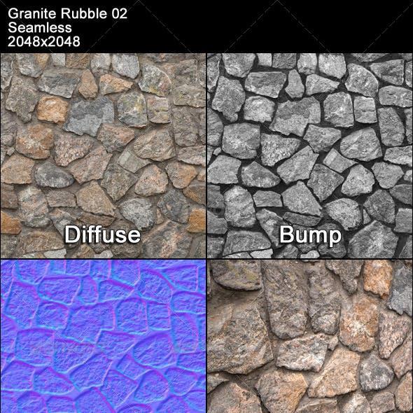 Granite Rubble Texture Tileable 02
