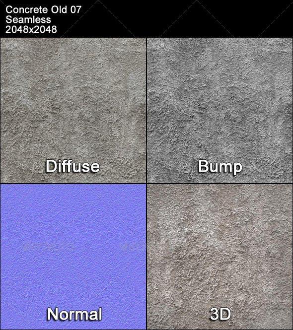 Concrete Old 07 Tileable - 3DOcean Item for Sale