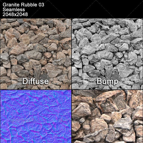 Granite Rubble Texture Tileable 03