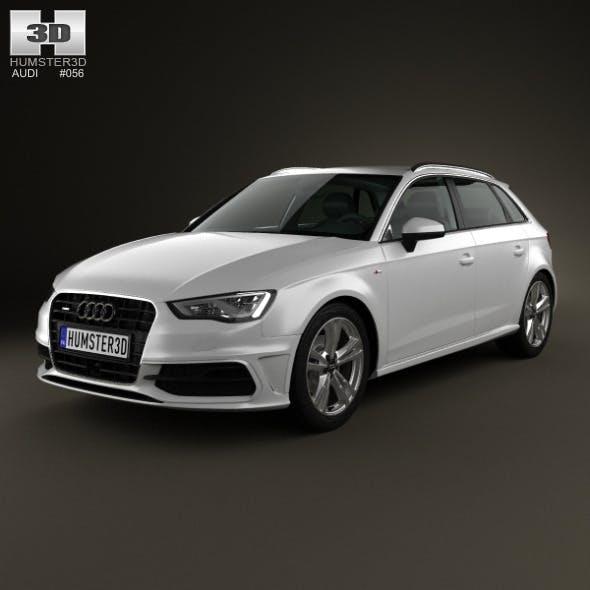 Audi A3 Sportback S-Line 2013 - 3DOcean Item for Sale