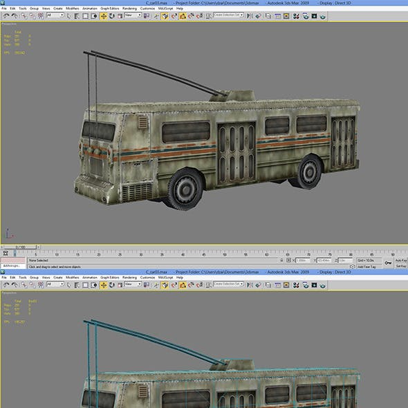 Lowpoly Bus 02