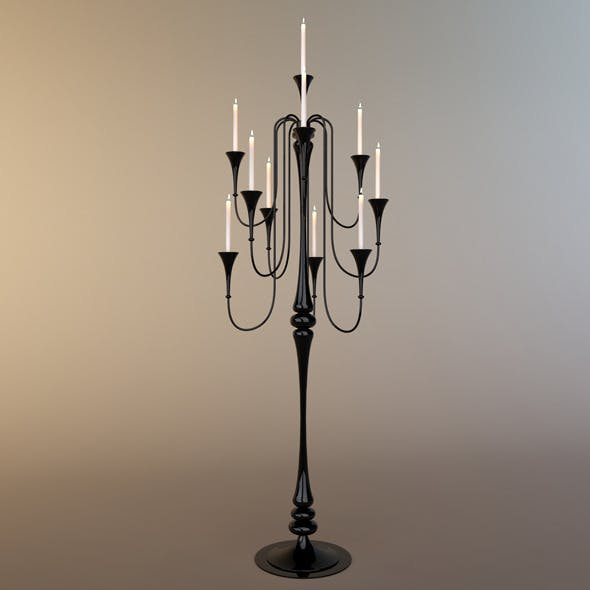 Glass Standard Lamp