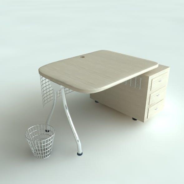 Office Desk Model - 3DOcean Item for Sale